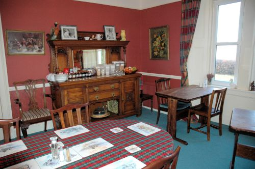A view of the dining room at The Old Manse Guest House, Lochcarron, where breakfast is taken.