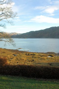 There is an excellent sea view from the windows of the main double bedroom at The Old Manse Guest House in Lochcarron.