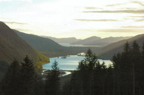 The view from the Coulin Road towards Loch Carron.