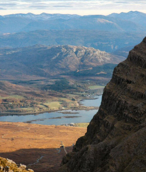 The view down to Kishorn as seen from the Applecross tops.